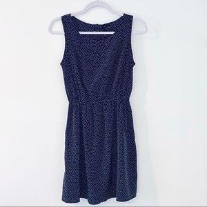 MNG CASUAL LADIES DRESS SIZE SMALL NAVY BLUE